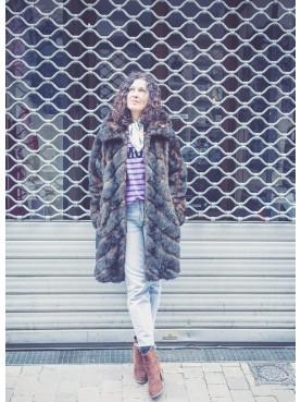 manteau fourrure faux vison