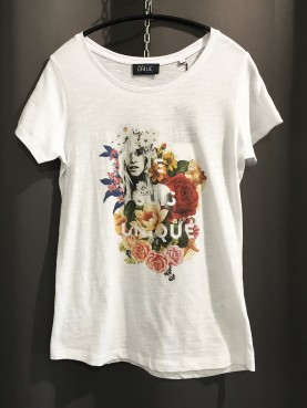 Tee-shirt slub Femme FLEUR