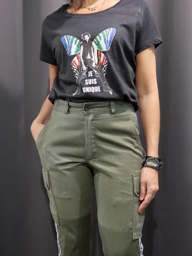 Tee-shirt slub Femme PAPILLON