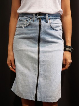 Jupe denim indigo