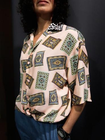 Denim & scarf shirt  TM