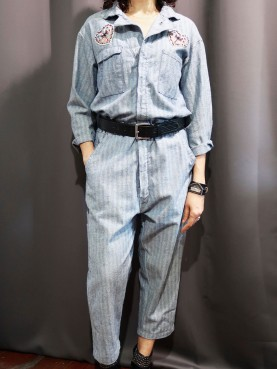 Army overall upcycling fashion