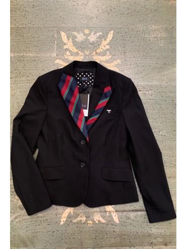 veste  noire upcyclée cravate