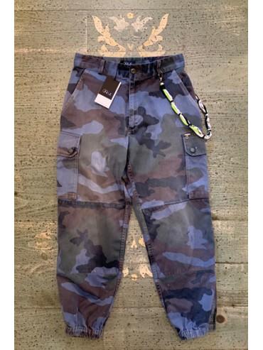 Pantalon army upcyclé avec chaine