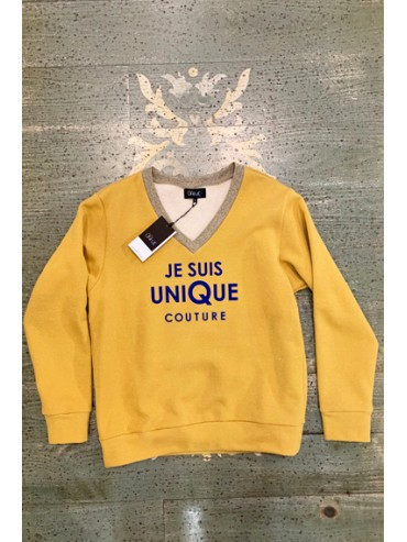 sweat jaune lurex or