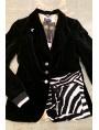 veste velvet noir upcyclée