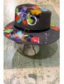 Chapeau feutre peint
