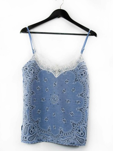Light blue bandana tank top
