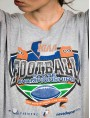 Tshirt football gris upcycling clothing