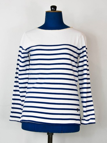 Marinière blanche upcycling fashion