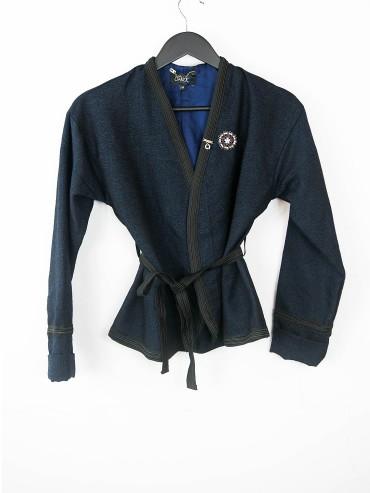 Veste kimono marine