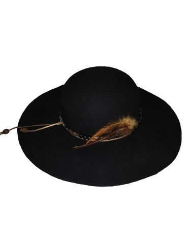 Black floppy hat jewels