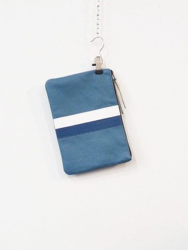 Blue pouch 2 stripes