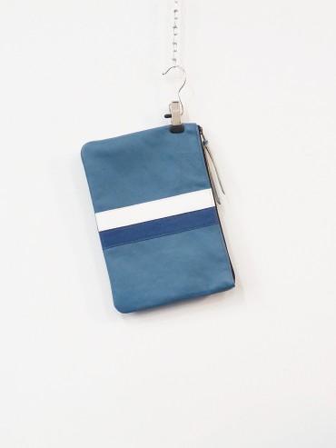 Pochette bleue 2 bandes