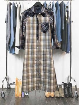 Maxi chemise carreaux foulard coton TM