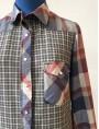 Maxi chemise carreaux lainage et foulard TM