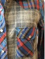 Maxi chemise carreaux lin et foulard TS