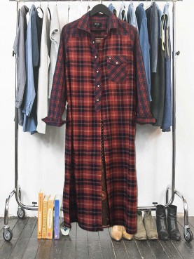 Checks & scarf shirt TL