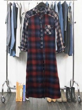 Checks & scarf shirt TS