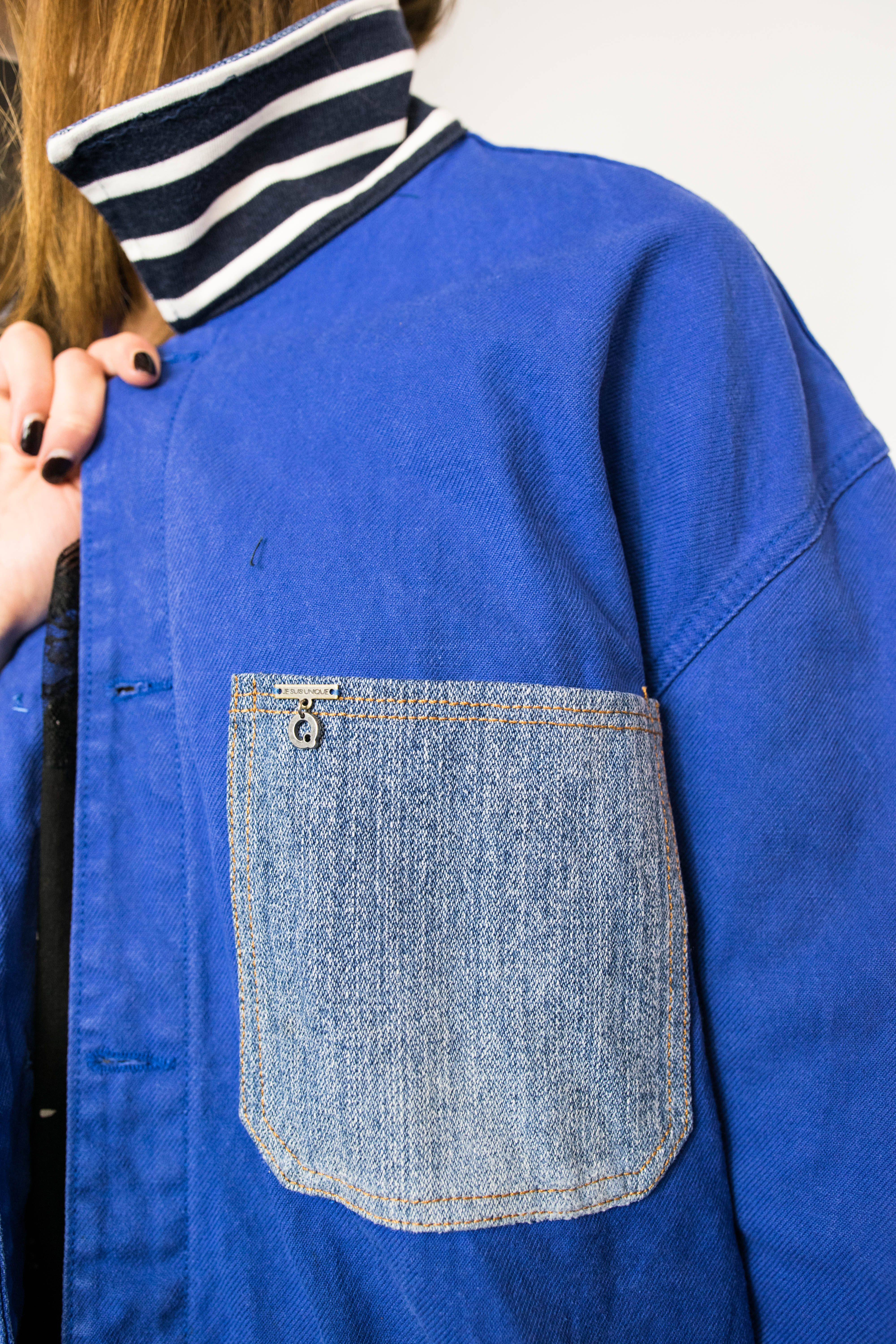 Detail veste workwear chic je suis unique