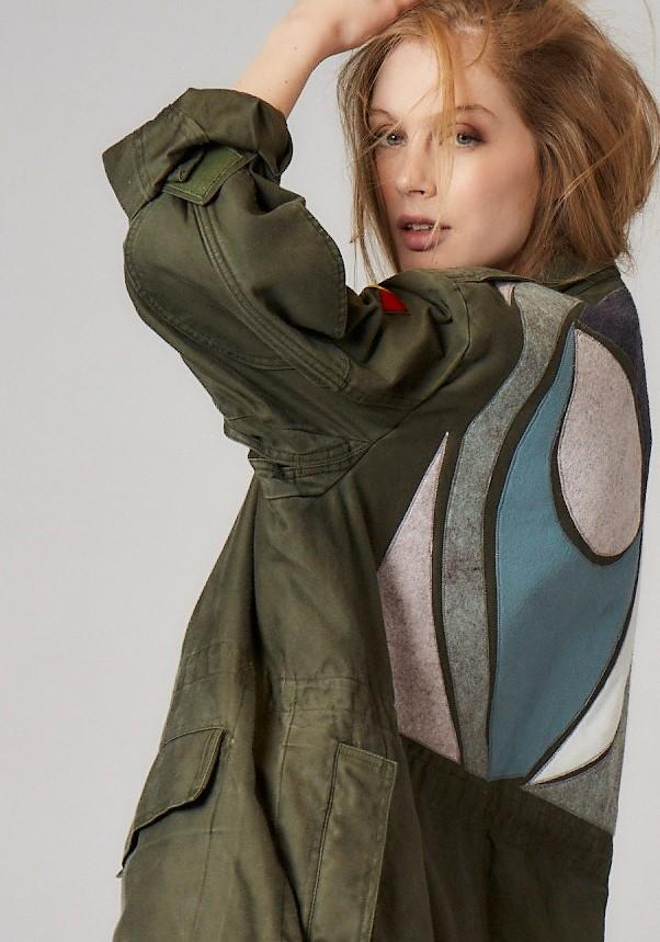 Marque Will and Pop, veste army customisee