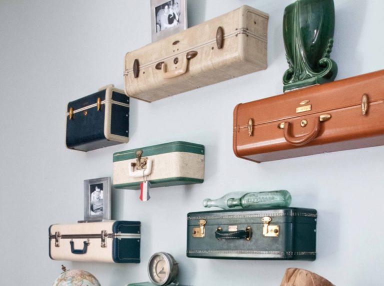des etageres dans tes valises